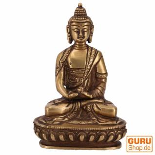 Buddha Statue aus Messing Dhyana Mudra 14 cm - Modell 7