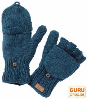 Handschuhe, Klapphandschuhe extra groß - petrol