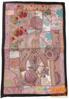 Indischer Wandteppich Patchwork Wandbehang/Tischläufer Einzelstück 90*65 cm - Muster 23