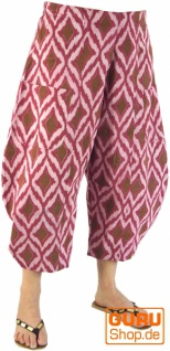 Palazzohose, indische 7/8 Sommerhose - cherry