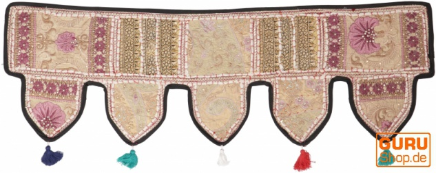 Orientalischer Wandbehang, indischer Toran, Wimpel Wandteppich, Wanddekoration, Tür Deko Einzelstück 90*30 cm - Design 15