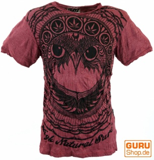 Sure T-Shirt Eule - bordeaux