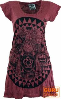 Sure Long Shirt, Minikleid Mandala - bordeaux