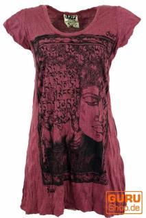 Sure Long Shirt, Minikleid Mantra Buddha - bordeaux