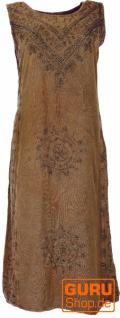Besticktes Boho Sommerkleid, indisches Hippie Kleid - caramel Design 4