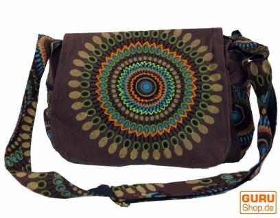 Schultertasche, Hippie Tasche, Goa Tasche - braun