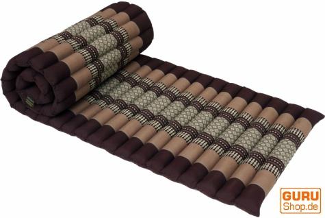 Rollbare Thaimatte mit Kapokfüllung