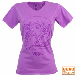 Sternzeichen T-Shirt `Jungfrau` - lila