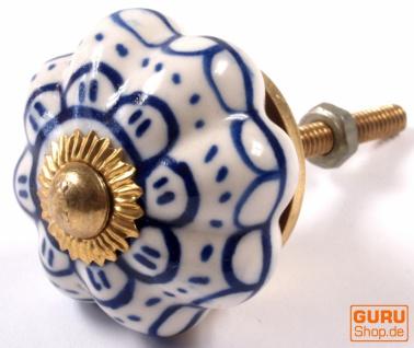 Möbelknopf Rose aus Keramik, Möbelknauf Möbelgriff, Schranktürknöpfe, Möbelknöpfe, Schubladengriff - Modell 39