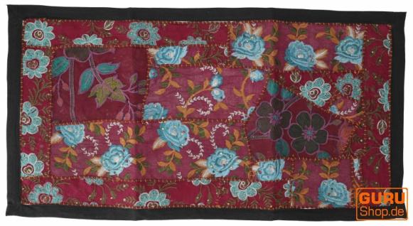 Indischer Wandteppich Patchwork Wandbehang, Tischläufer, Einzelstück 85*45 cm - Muster 11