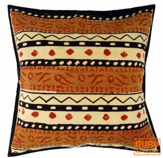 Kissenbezug Blockdruck, Dekokissen Bezug, Kissenhülle Ethno, Traditionelle Herstellung - Muster 8