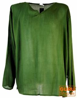 Yoga Hemd, Goa Hemd - olive - Vorschau