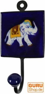 Wandhaken, Garderobenhaken mit handgefertigter Fliese (8*8 cm) - Modell 1