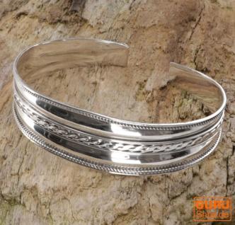 Boho Silber Armreifen, indische Armspange - Modell 4