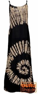 Batik Maxikleid, Strandkleid, Sommerkleid, langes Kleid - schwarz