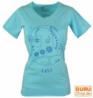 Sternzeichen T-Shirt `Löwe` - türkis