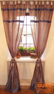 Vorhang, Gardine (1 Paar Vorhänge, Gardinen) - blau / grau