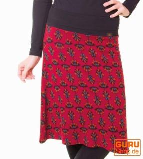 Knielanger Rock aus Bio-Baumwolle / Chapati Design - burg lotus