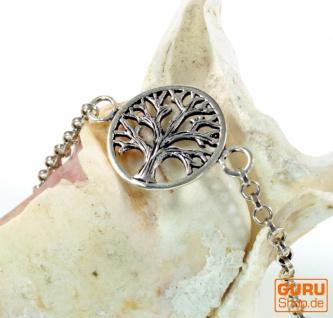 Silber Armkettchen, Boho Armschmuck - Baum des Lebens 1