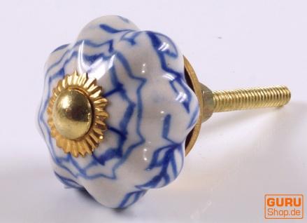 Kleiner Möbelknopf Rose aus Keramik, Möbelknauf Möbelgriff, Schranktürknöpfe, Möbelknöpfe, Schubladengriff - Modell 8