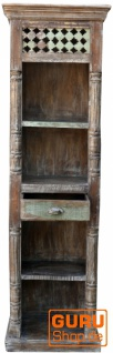 Schmales Regal im Vintage Look mit einer Schublade DC002 - Vorschau 1