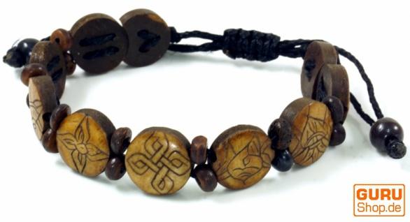 Buddhistisches Armband Ashtamangala - braun Modell 4
