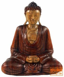 Holzbuddha, Buddha Statue, Handarbeit 30 cm, Anjali Mudra - Modell 7