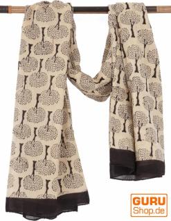 Leichter Pareo, Sarong, handbedrucktes Baumwolltuch - Farb Kombination 3