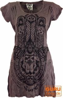 Sure Long Shirt, Minikleid Fatimas Hand - taupe