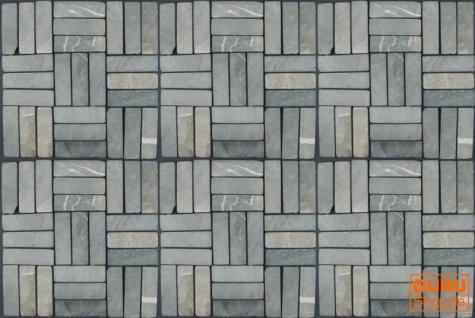 Stäbchen Mosaik Fliesen aus Marmor (P-06) - Design 10 - Vorschau 2