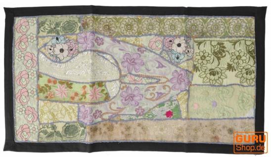 Indischer Wandteppich Patchwork Wandbehang, Tischläufer, Einzelstück 85*45 cm - Muster 4