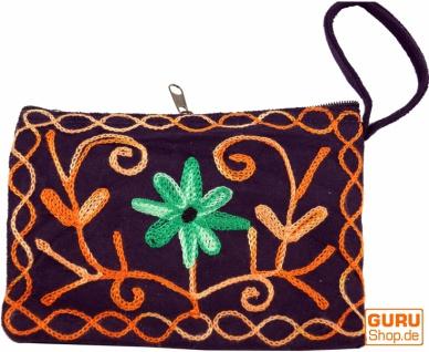 Besticktes Portemonnaie aus Kaschmir - 8