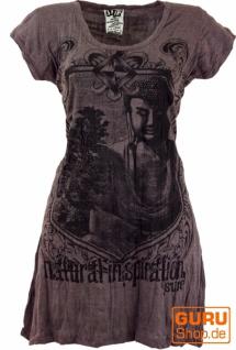 Sure Long Shirt, Minikleid Bodhi Baum Buddha - taupe