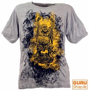 Pure T-Shirt Lucky Buddha - grau