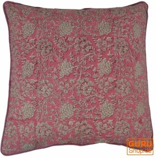 Kissenbezug Blockdruck, Kissenhülle Ethno, Dekokissen Bezug mit traditionellem Design - Muster 16 - Vorschau 2