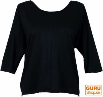 Goa Psytrance Basic Shirt, Hippie Shirt, Langarmshirt - schwarz