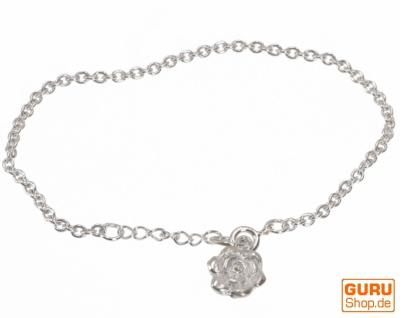 Silber Armkettchen, Boho Armschmuck - Rose 1