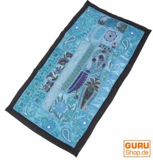Indischer Wandteppich Patchwork Wandbehang, Tischläufer, Einzelstück 80 *45 cm - Muster 1