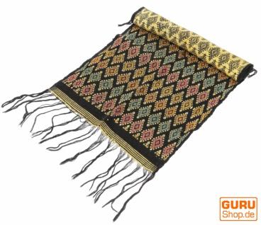 Traditionelles handgewebtes Ikat Tuch, Tischläufer, Tischdecke aus Sumba, 150 x 47cm - Motiv 2