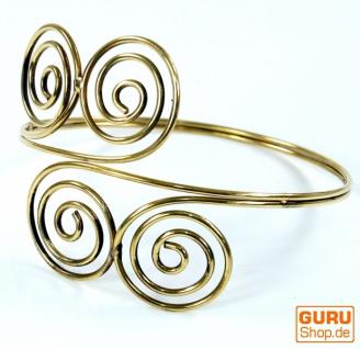 Tribal Oberarm Spange, Goa Arrmreif Spirale Messing