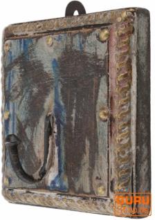 Garderobenhaken, Holz Kleiderhaken im Kolonialstil - Design 4