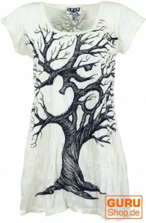 Sure Long Shirt, Minikleid OM Tree - weiß