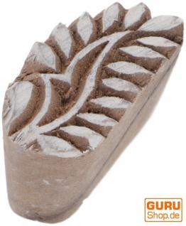Indischer Textilstempel, Holz Stoffdruckstempel, Blaudruck Stempel, Druck Modell - 3, 5*1, 5 cm Blatt 2