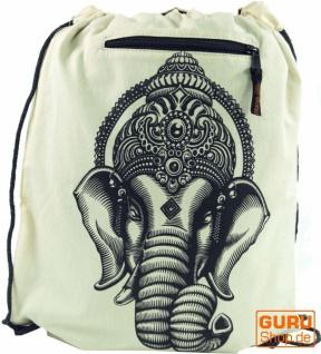 Turnbeutel, Rucksack, Sportbeutel, Freizeitbeutel, Goa Beutel, Hippie Beutel Ganesha