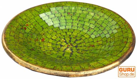 Runde Mosaikschale, Untersetzer, Dekoschale, handgearbeitete Keramik & Glas Obst Schale - Design 10