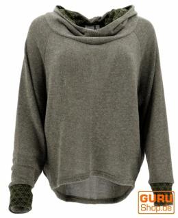 Hoody, Sweatshirt, Pullover, Kapuzenpullover - khakigrün