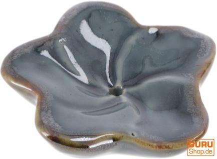 Exotischer Keramik Räucherstäbchenhalter - Jasmin grau