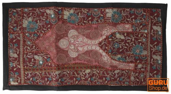 Indischer Wandteppich Patchwork Wandbehang, Tischläufer, Einzelstück 85*45 cm - Muster 13