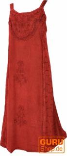 Besticktes indisches Sommerkleid Boho chic - rot