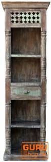 Schmales Regal im Vintage Look mit einer Schublade DC002 - Vorschau 2